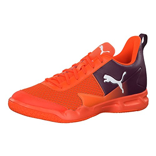 Puma Unisex-Erwachsene Rise XT 4 Multisport Indoor Schuhe, Shocking Orange-Shadow Purple-Puma White