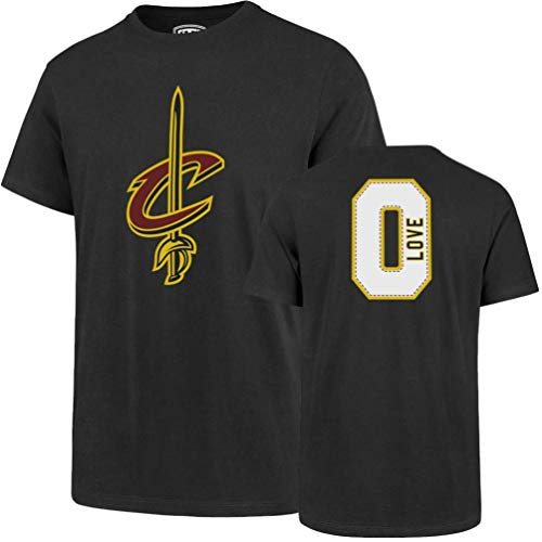 NBA Cleveland Cavaliers Kevin Love Mens Player OTS Rival Teenba Player Rival Tee, Kevin Love - Charcoal, Large