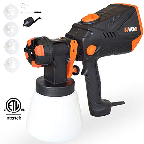 Paint Sprayer 1000ml/min - 600 Watt High Power HVLP Home Sprayers Electric Spray Gun with 3 Spray Patterns/4 Nozzle Sizes/Adjustable Valve Knob/Flow Control Ideal for Indoor & Outdoor Precise Paint