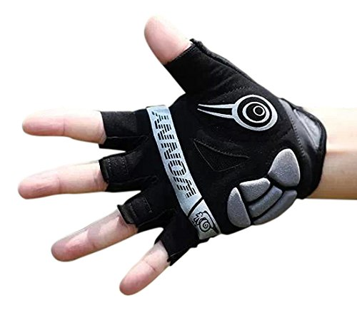 Zx Leather Glove (Wonny Sports ZX-027 Cycling Glove, Black)