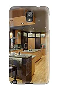 IxvjgUk6498ovDCY Case Cover, Fashionable Galaxy Note 3 Case - Contemporary Kitchen With Black Ceiling And Slate Tiles