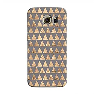 Cover It Up - Brown Grey Triangle Tile Galaxy S6 Edge Plus Hard Case