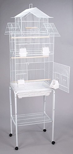 Large Canary Parakeet Cockatiel LoveBird Finch Roof Top Bird Cage With Stand --18