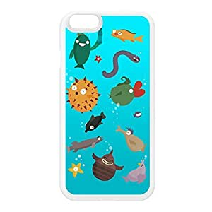 Aquarium White Silicon Rubber Case for iPhone 6 by Miki Mottes + FREE Crystal Clear Screen Protector