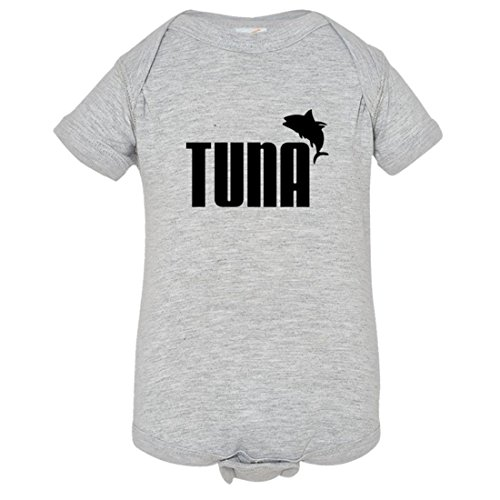 Baby Creeper Tuna Look Alike Puma Logo Fishing HQ 1-Piece Jumper - - Sushi Logo
