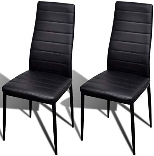 Roderick Irving Lot de 2 chaises de Salle à Manger Noir 41 x 51 x 98 cm