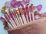 Brushes Makeup Cosmetics Tool ZOEVA Rose Golden Vol. 2 Complete Eye Set, ZOEVA Set 12 Face Brushes.