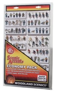 Woodland Scenics HO Economy Figure Assortment, WOOA2052 (Set Figure Economy)