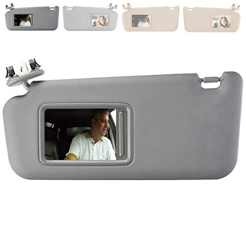 SAILEAD Sun Visor for Toyota RAV4 with Sunroof and Light 74320-42501-B2, for Year 2006 2007 2008 2009 2010 2011 2012 2013 (Left Driver Side, Gray)