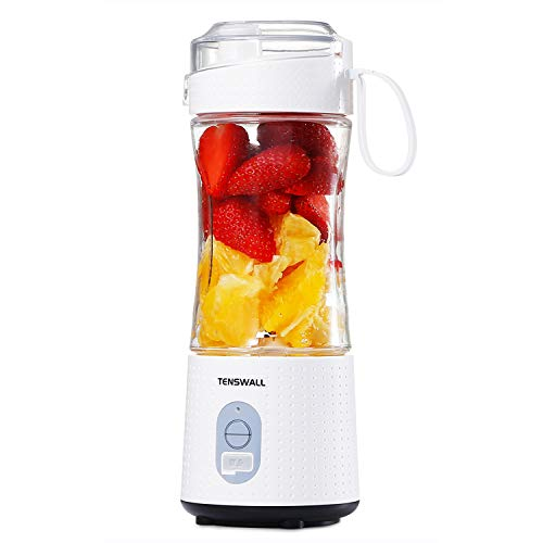 Tenswall Portable, Personal Size Smoothies and Shakes, Handheld Fruit Machine 13oz USB Rchargeable Juicer Cup, Ice…