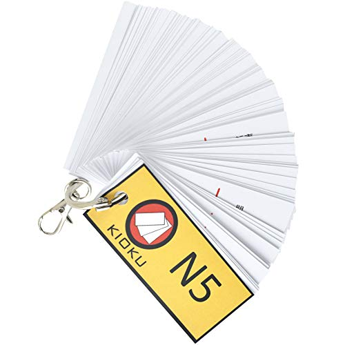 KIOKU KANJI FLASH CARD N5 for JLPT Handy size Japanese-Language Proficiency Test (Kanji N5 103 words)
