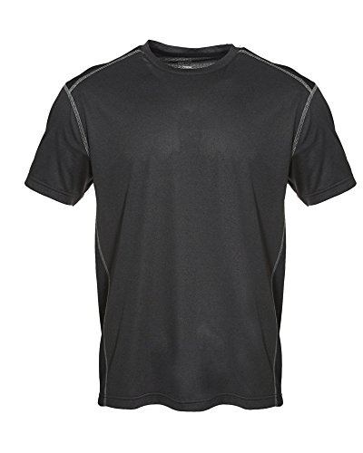 Spalding Mens Training Power Peached Double-Dyed Heater SS Crew BLK HTHR L