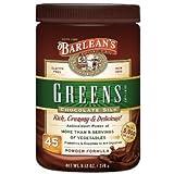 Barlean's Organic Oils Greens, Chocolate Silk, 9.5 Oz (4 Pack)
