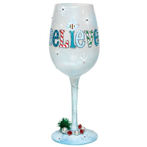 Santa Barbara Design Studio GLS11-5512B Lolita Love My Wine Hand Painted Glass, I Still Believe