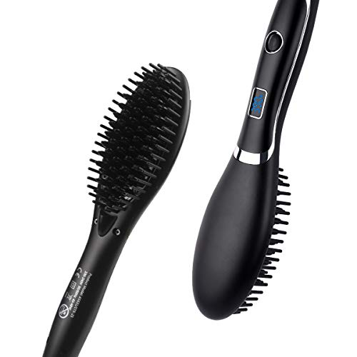 Hair Straightening Brush Corded Veru ETERNITY Hair Straightener Brush with LED Display and MCH