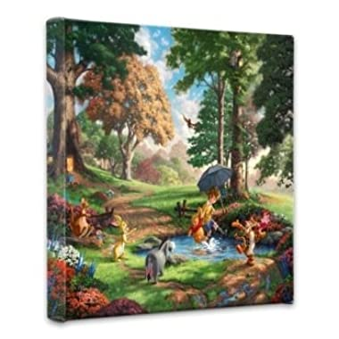 Thomas Kinkade Winnie the Pooh I 14x14 Gallery Canvas Wrap
