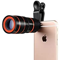 JIKRA Mobile Blur Background Telescope Lens Kit with 8X Zoom | DSLR Auto Blur Background Effect for All Mobile Camera | Travelling Accessory
