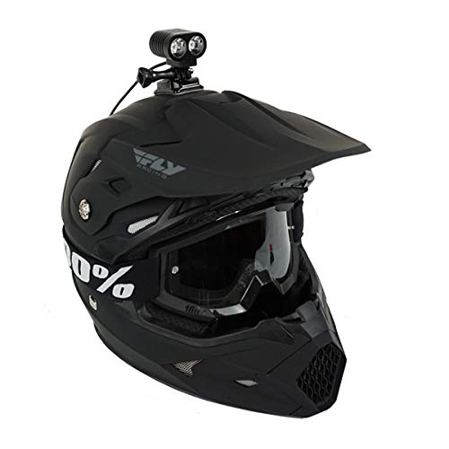 Oxbow Gear Voyager Dirt Bike Helmet Light Kit with Rechargeable Battery, Compatible with GoPro Mounts, 2100 Lumens, 3 Hours on High Beam (Best Motorcycle Lights For Night Riding)