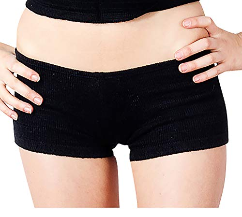 New York Black Extra Large Sexy Low Rise Yoga & Dance Shorts Stretch Knit KD dance Sustainably Made In USA ()