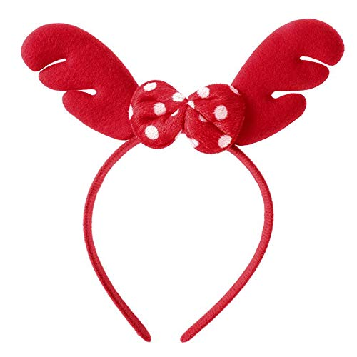Christmas Headband Reindeer Antler Hair Hoop Headpiece Bowknot