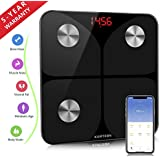 Smart Body Fat Weight Scale - FDA Approved - Digital Bathroom BMI Scale Wireless Body Composition Analyzer Health Monitor with iOS and Android App for Body Weight Fat Water BMR and More