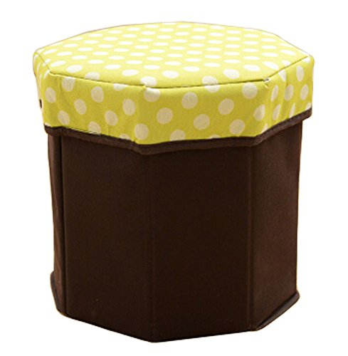 Storage Ottoman Collapsible Foldable Foot Rest Round Storag Ottoman GREEN