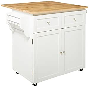 Coaster Home Furnishings  Transitional Kitchen Cart White