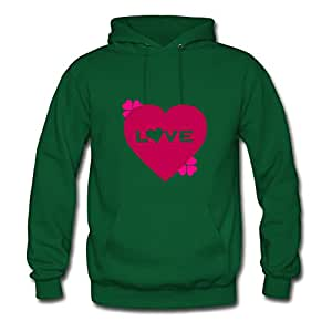 Styling X-large Sweatshirts Green Valentine's Day - I Love Print Women Organic Cotton S