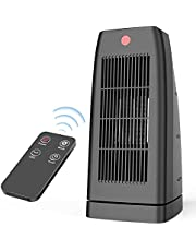 Electric Ceramic Tower Space Heater with Remote Control, Oscillating & Timer Mode, Tip-Over & Overheat Protection, 1500W/1000W Quiet Portable Floor Heater for Room Offices Indoor Use