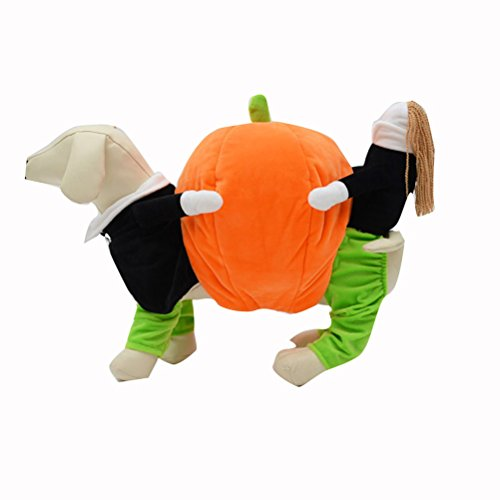 UEETEK Pet Clothes Funny Pumpkin Puppy Costume Dog Cat Carrying Pumpkin Fancy Costume Halloween Party Christmas Gift Size XL-17.7 inch (Back Length) ()