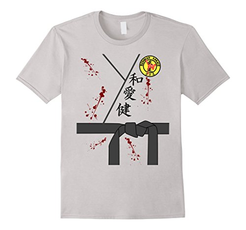 Bloody or Zombie Black Belt Karate Halloween Costume T-shirt