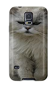 New Diy Design Lazy Cat Animal Cat For Galaxy S5 Cases Comfortable For Lovers And Friends For Christmas Gifts