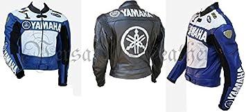 Yamaha 1 Moto Chaqueta de piel chaqueta de piel de moto ...
