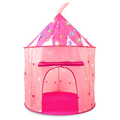 HiDreammy PrincessPlayTent Toys withTwinkleColoredLights for Kids]()