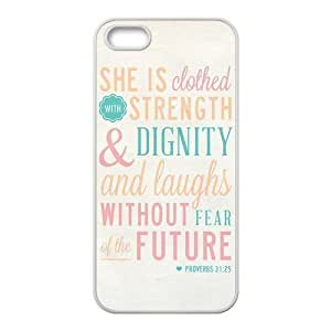 Fashion Bible Verse Personalized iPhone 5S Hard Silicone Case Cover -CCINO