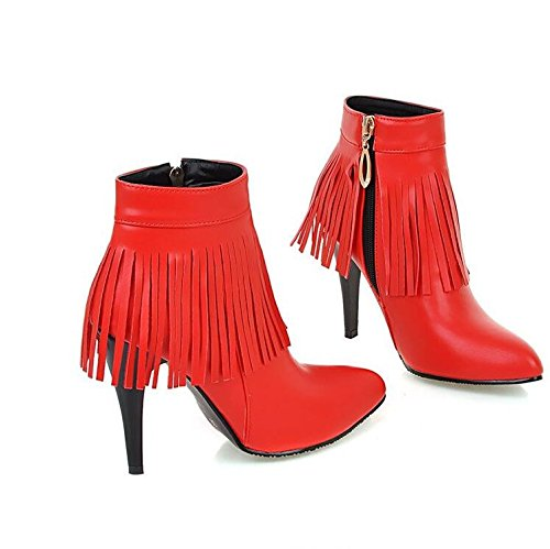 Tip boots boots and stream heels ZQ QX the boots ladies fine red week versatile the short with high of for qU7Upw5