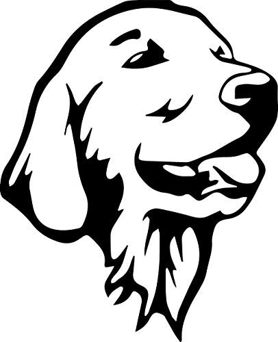 (ANGDEST Labrador Retriever Stencil Drawing (Black) (Set of 2) Premium Waterproof Vinyl Decal Stickers for Laptop Phone Accessory Helmet Car Window Bumper Mug Tuber Cup Door Wall Decoration)