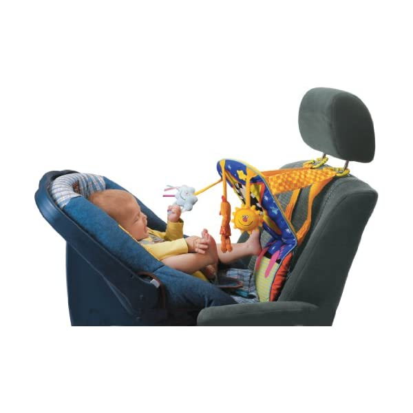 41H82IJ3KFL. SS600  - Taf Toys Toe Time Infant Car Seat Toy | Kick and Play Activity Center with Music, Lights, Mirror, and Jingling Toys…