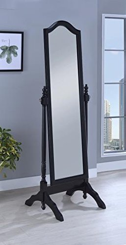 Transitional Cheval Mirror - Coaster Home Furnishings 950801 Coaster Transitional Cheval Floor Mirror with Arched Top, Black