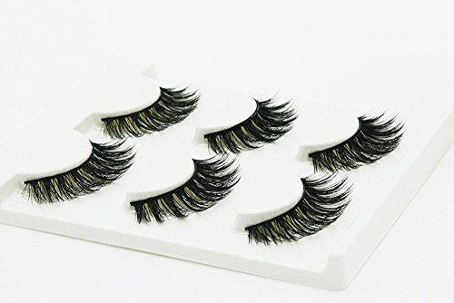 3 PCS Naturel incroyable 3D stéréo multicouche faux cils pur artisanal cils (3 paires) 3D-36