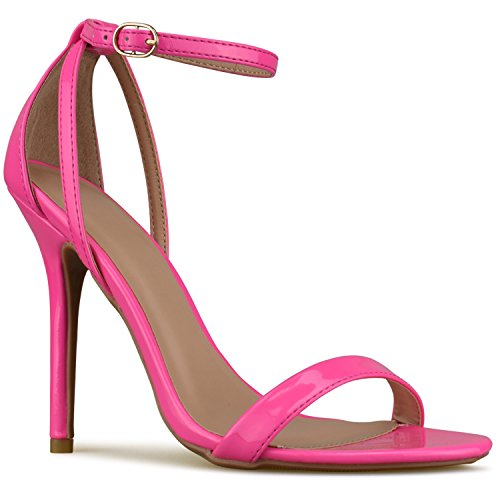 Standard Wedding Kitten Pink Pump Simple Formal Strappy Pat Neon Premium Women's Heel Premier Classic High Party dqtR0wn1