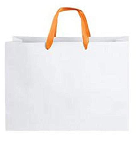 Amazon.com: Bolsas de papel grandes de color blanco con asas ...