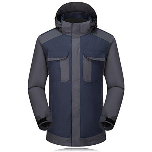 Blue FYM Ski Zipper Men's DYF Jacket Removable Coat JACKETS Waterproof Hide Hat Sleeves Long rqOxwaqIpA