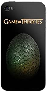 Zing Revolution Game of Thrones Premium Vinyl Adhesive Skin for iPhone 4/4S, Dragon Eggs 2 (MS-GOT560133)