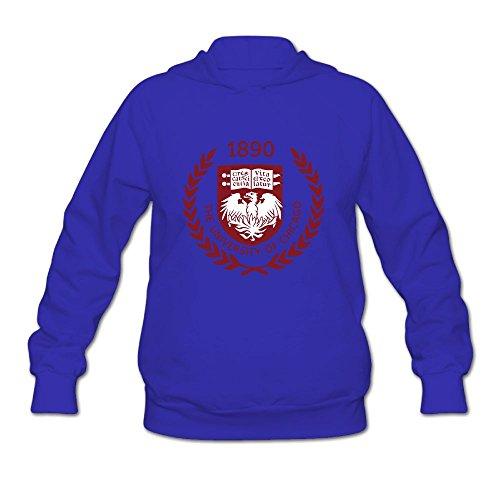 QTHOO Women's The University of Chicago Established 1890 Long Sleeve Hooded Sweatshirt by QTHOO
