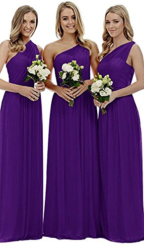 Long One Party Women's Wedding Royal Fanciest Blue Dresses Shoulder Purple Dress Brdiesmaid qpgdwT