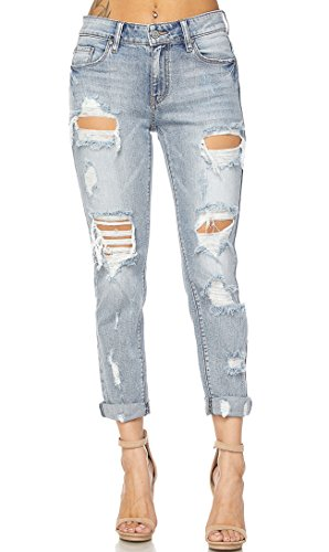 Destructed Boyfriend Jeans - 4
