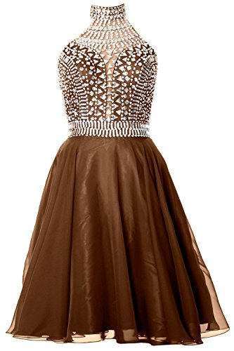 MACloth Gorgeous Halter Prom Homecoming Dress High Neck C...