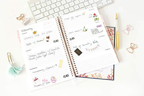 bloom daily planners 2019 Calendar Year Day Planner - Passion/Goal Organizer - Monthly and Weekly Dated Agenda Book - (January 2019 - December 2019) - 6