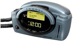 Conair CID400 Clock Radio Phone with Caller ID (Gray)